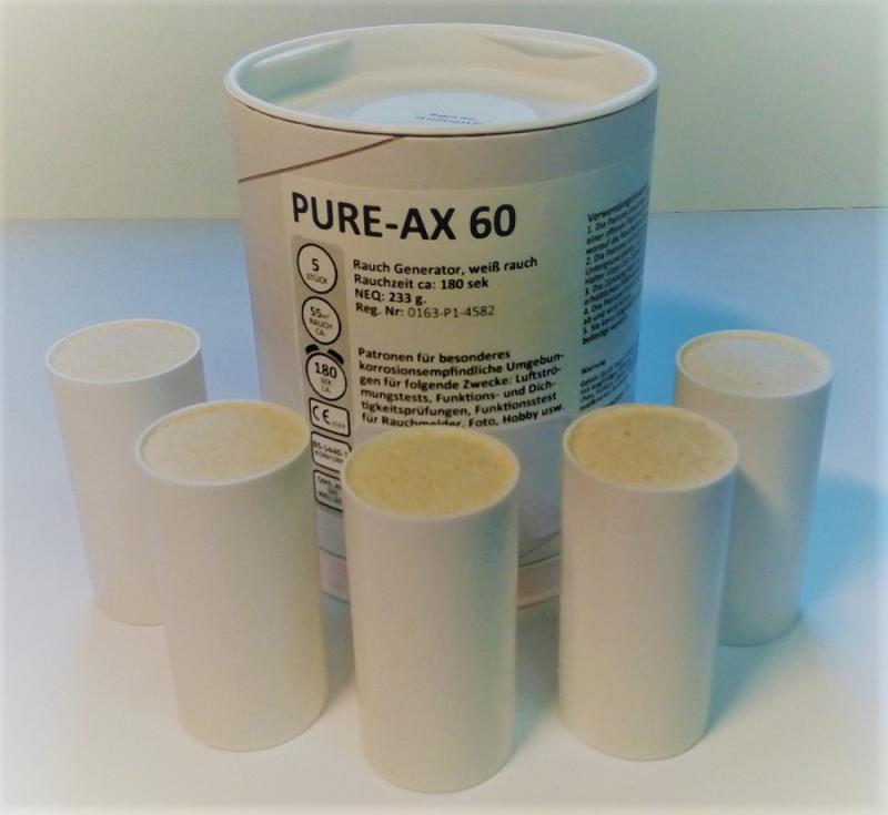5 Rauchpatronen PURE AX 60 weiss