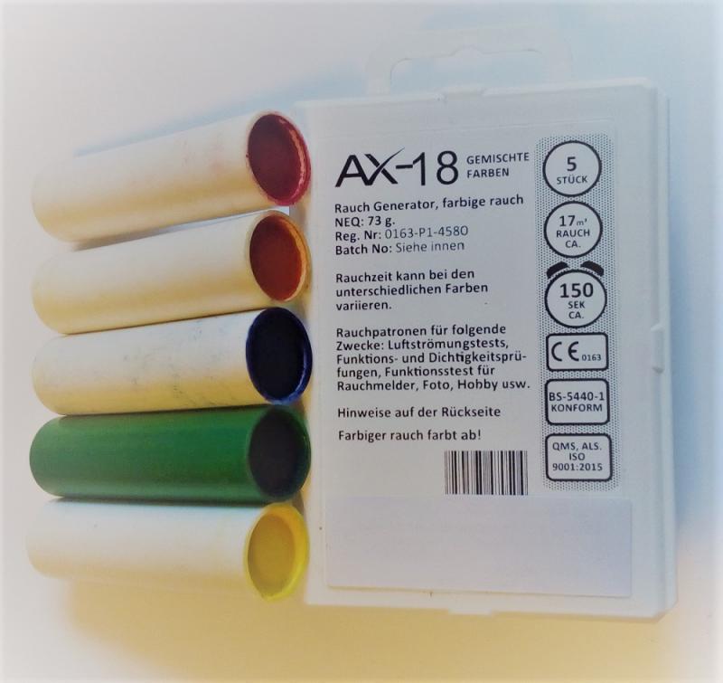 5 Rauchpatronen AX18 gemischt