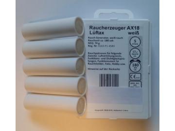 5 Rauchpatronen AX 18 weiss