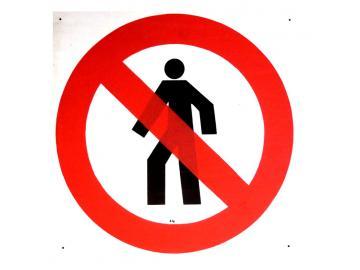 Schild Durchgang verboten