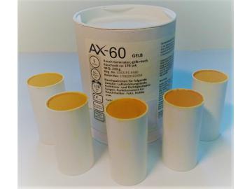 5 Rauchpatronen AX 60 gelb