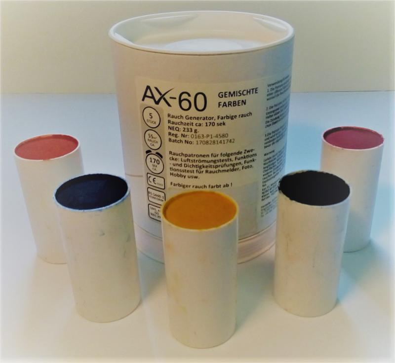 5 Rauchpatronen AX 60 gemischt