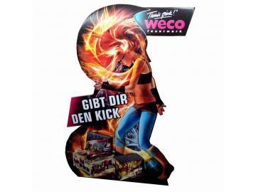 Werbefigur Firewoman
